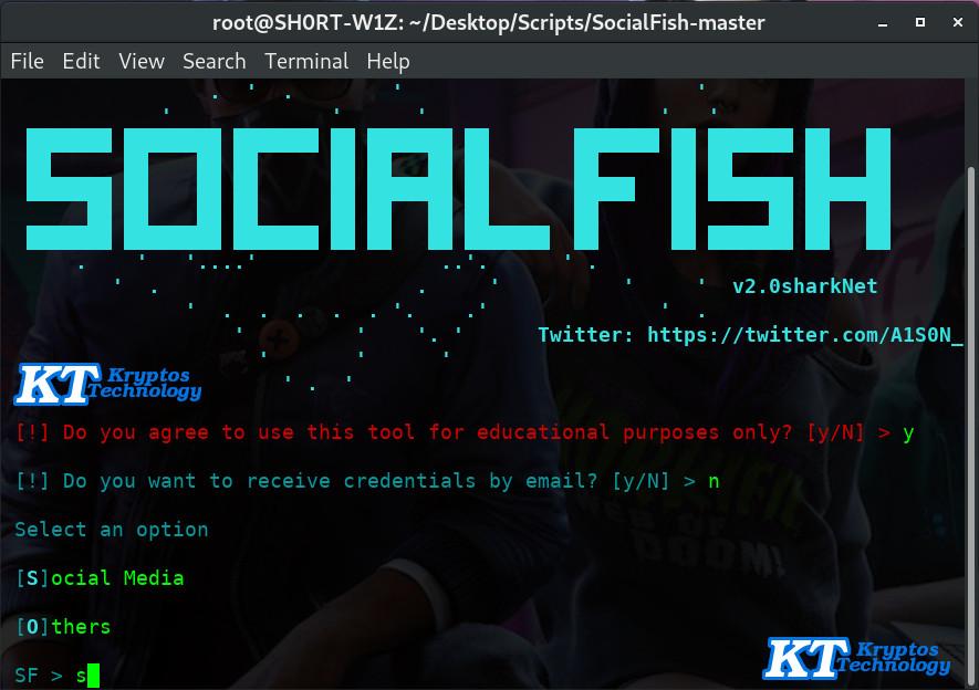 socialfish how to do a phishing attack