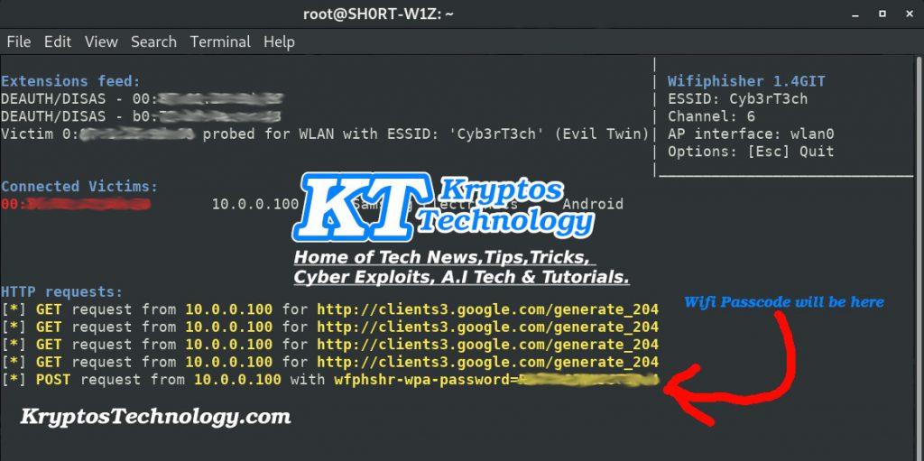 Hack WiFi Using Wifiphisher